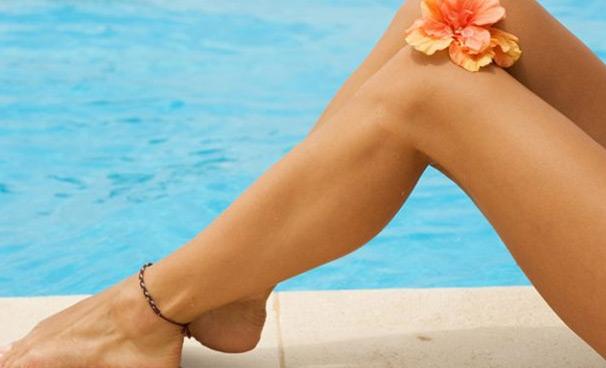 депиляция ног теплым воском